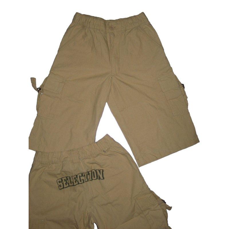 960652c8adb27 Bermuda kurze Hose beige Schriftzug hinten