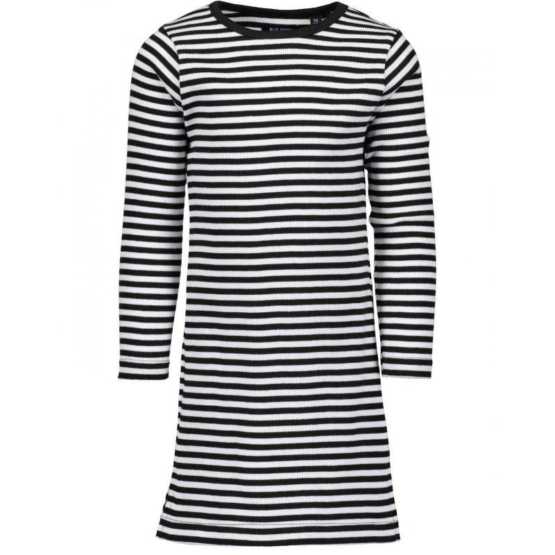 Berühmt Blue Seven Kleid Ripp-Kleid Langarm gestreift schwarz weiß, 17, &DF_35