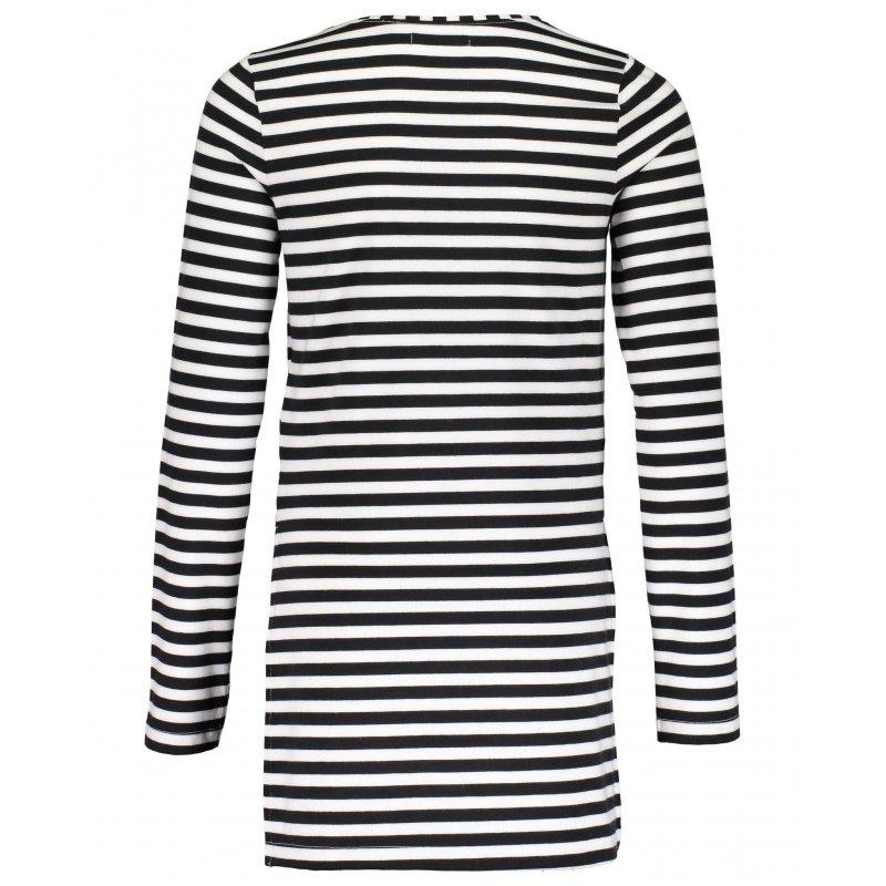 893bb0d1d1be Blue Seven Kleid Ripp-Kleid Langarm gestreift schwarz weiß