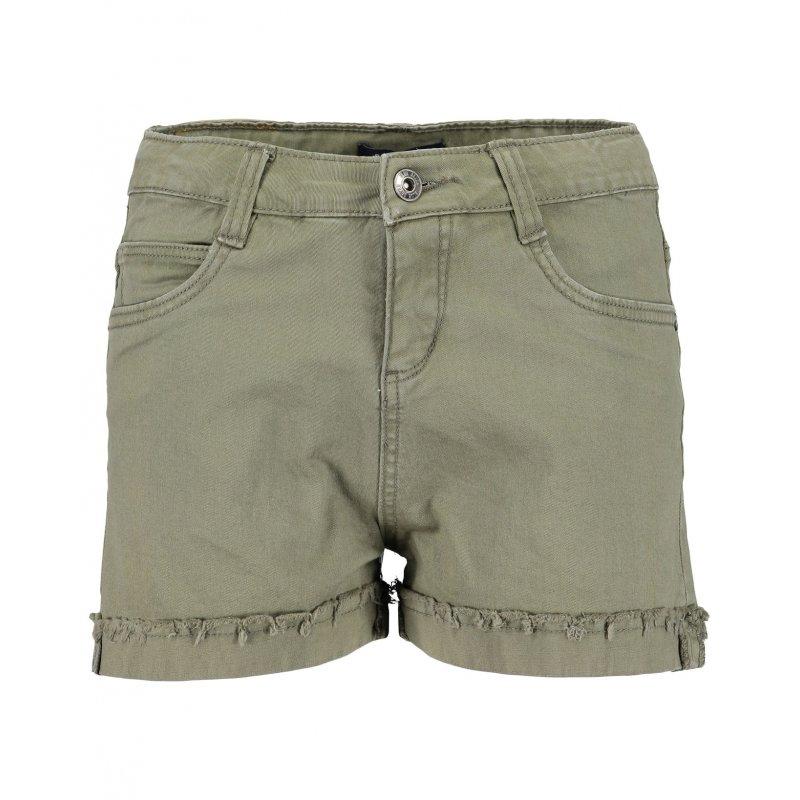 Gefranzter Khaki Beinumschlag Blue Shorts Hose Mädchen Kurze Seven OuXTkiwZP
