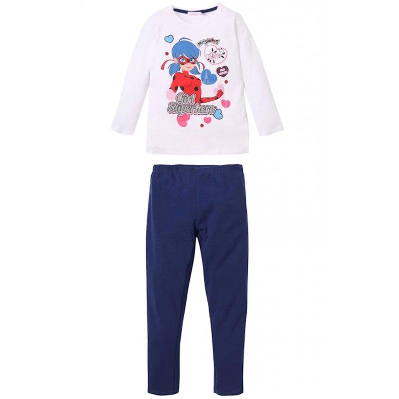 überlegene Leistung gute Qualität so billig Miraculous Ladybug Schlafanzug lang Pyjama weiß blau