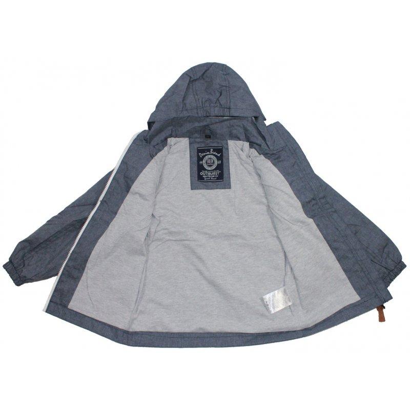 new product e5be7 fa22f Outburst Jungen Sommer Jacke blau melange