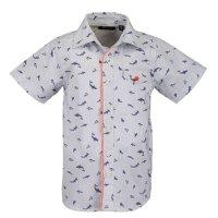 7f452b6db2db07 Blue Seven Jungen Hemd Kurzarm Sommerhemd Hai weiß gemustert