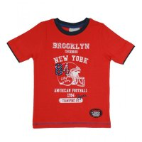 Blue Seven T-Shirt American Football rot