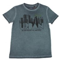 Blue Seven T-Shirt washed gray Skyline