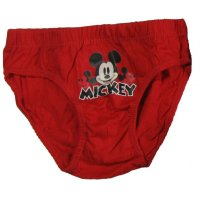 Disney Mickey Mouse 3er Pack Slips rot Gr. 104