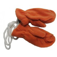 Fiebig Baby Fleecefäustel m Band Handschuhe orange