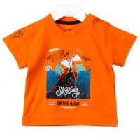 Losan Baby Jungen T-Shirt Skating naranja orange