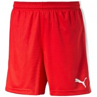 PUMA Kinder Sporthose kurz Shorts red white