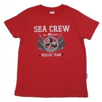 Stummer T-Shirt rot SEA CREW RESCUE TEAM