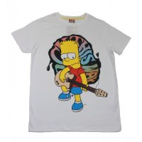 The Simpsons T-Shirt Bart Simpson an der Gitarre