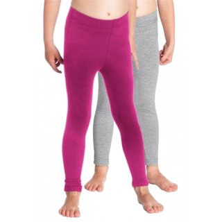 CFL 2er Pack Leggings fuchsia grau
