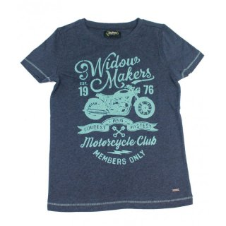 Colorado Denim boys Motorrad T-Shirt mood indigo melange