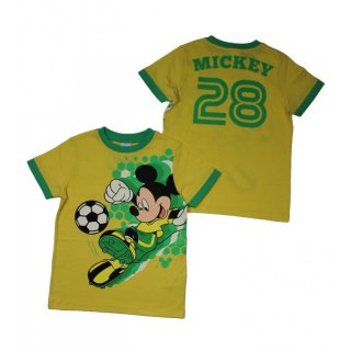 Disney Mickey Mouse T-Shirt Fußball Yellow Cream
