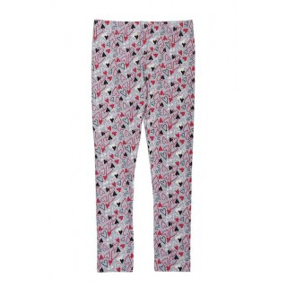 Disney Minnie Mouse Leggings Herzen hellgrau