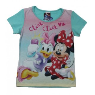 Disney Minnie Mouse T-Shirt Top m Fotodruck grün