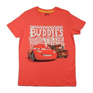 Disney cars T-Shirt Buddies to the finish, rot, LightningMcQueen + Hook