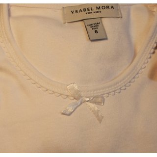 Ysabel Mora Jungen Kinder Unterhemd Langarm//Kurzarm wei/ß Geschenkverpackung